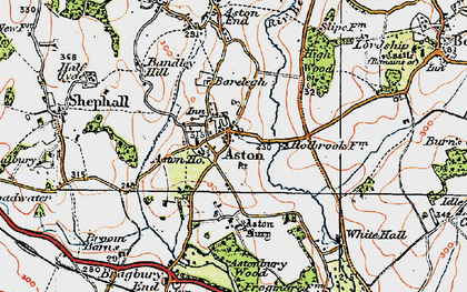 Old map of Aston in 1920