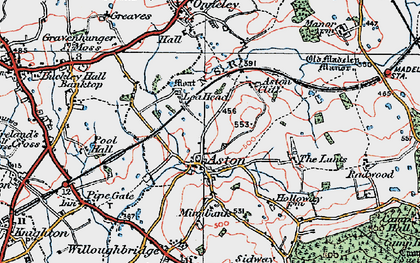 Old map of Lea Head Manor in 1921