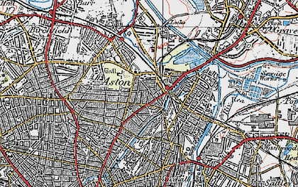 Old map of Aston in 1921