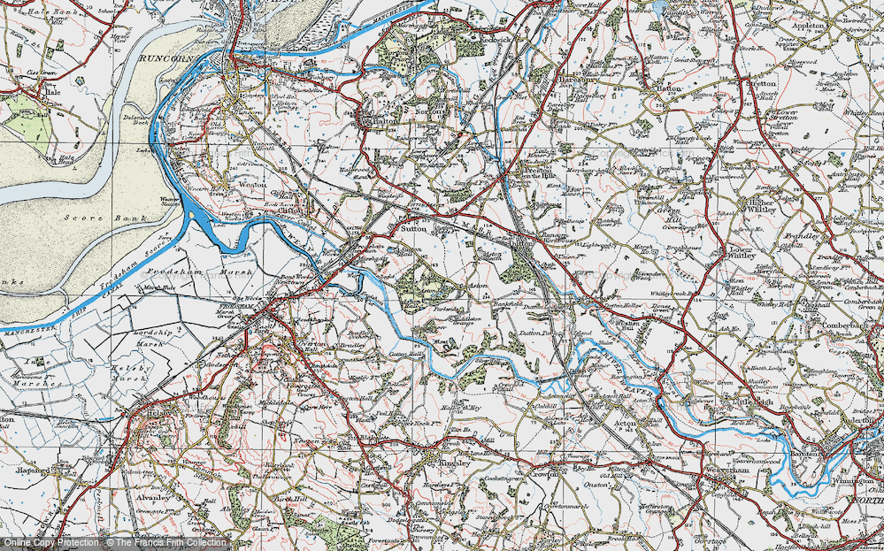 Old Map of Aston, 1923 in 1923