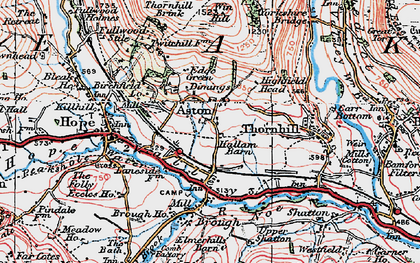 Old map of Aston in 1923