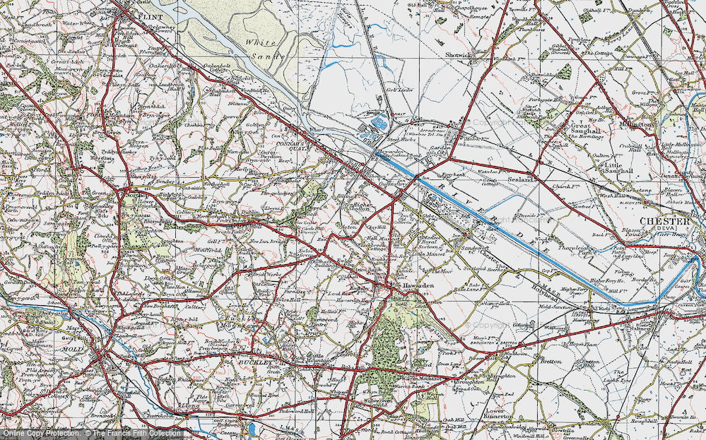 Old Map of Aston, 1924 in 1924