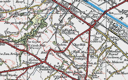 Old map of Aston in 1924