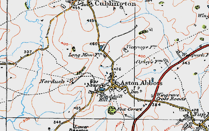 Old map of Aston Abbotts in 1919
