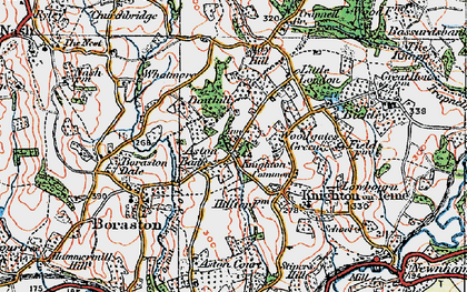 Old map of Aston Bank in 1920