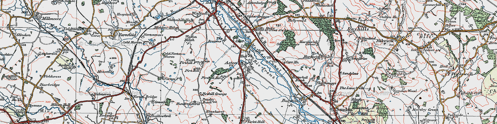 Old map of Yarlet Hall (School) in 1921