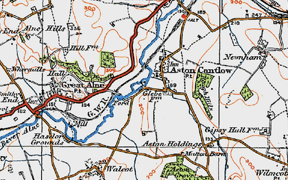 Old map of Aston Cantlow in 1919