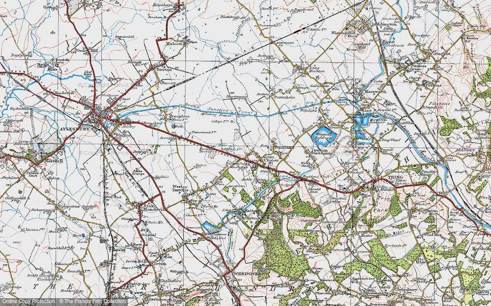 Old Map of Aston Clinton, 1919 in 1919