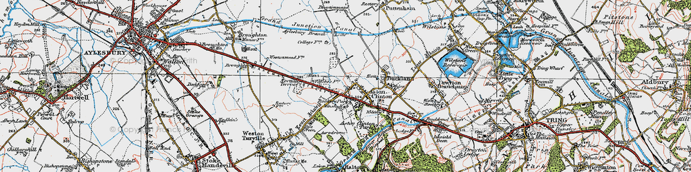 Old map of Aston Clinton in 1919