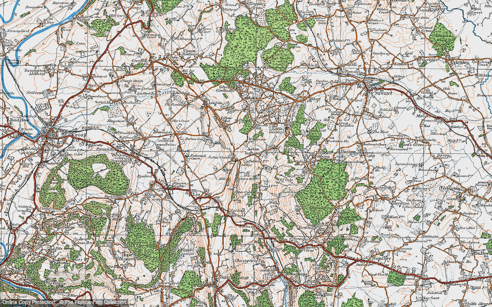 Old Map of Aston Crews, 1919 in 1919