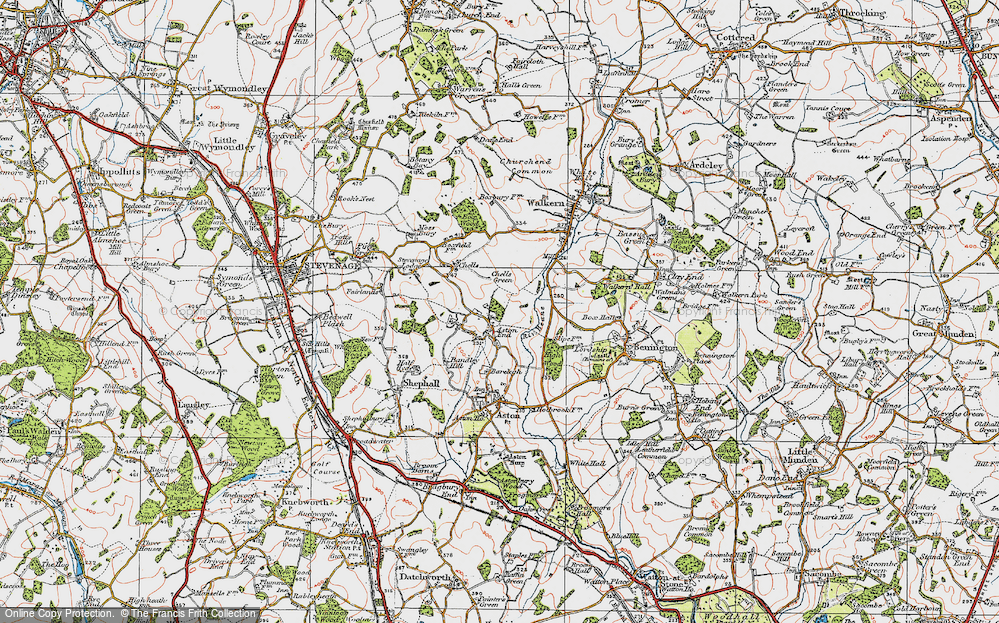 Old Map of Historic Map covering Bareleigh in 1920