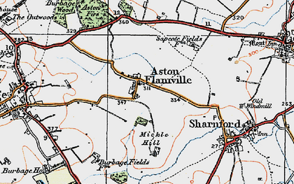 Old map of Aston Flamville in 1920