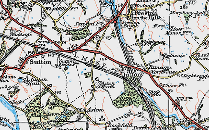 Old map of Aston Heath in 1923
