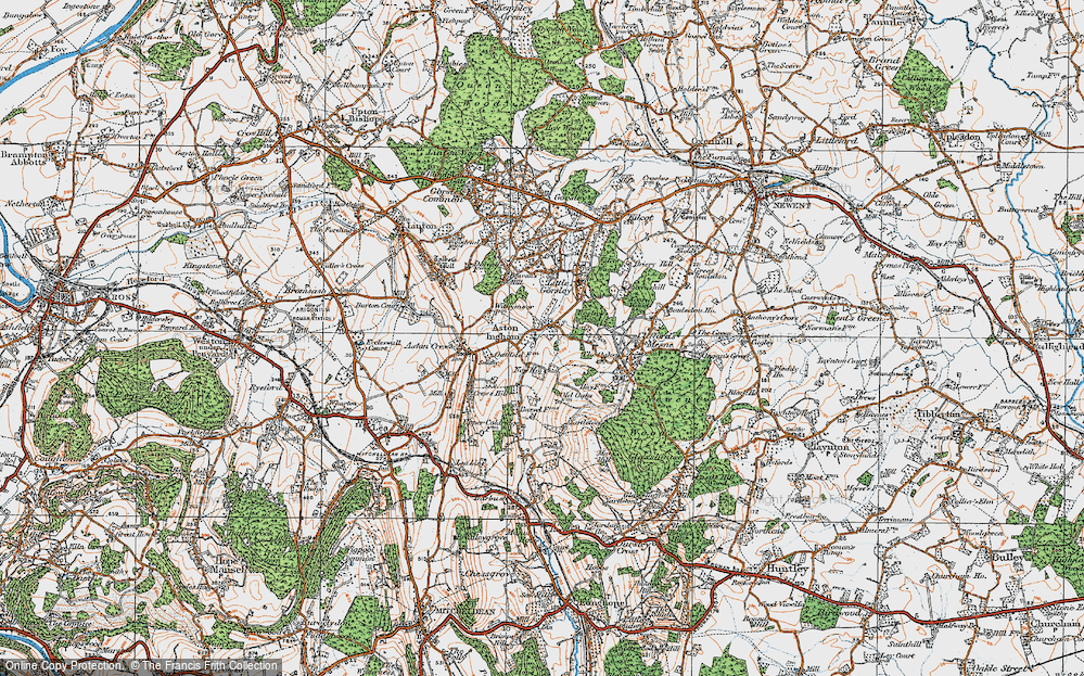 Old Map of Aston Ingham, 1919 in 1919