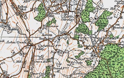 Old map of Aston Ingham in 1919