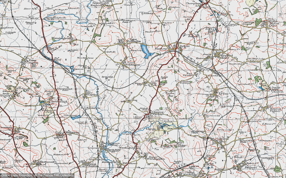 Old Map of Aston le Walls, 1919 in 1919