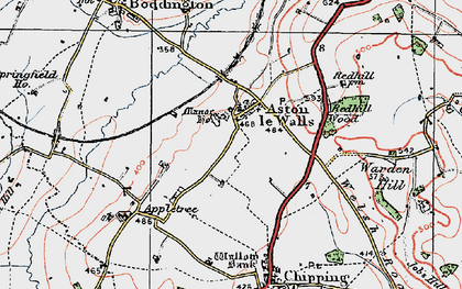 Old map of Aston le Walls in 1919
