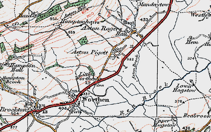 Old map of Aston Pigott in 1921