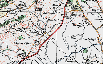 Old map of Aston Rogers in 1921
