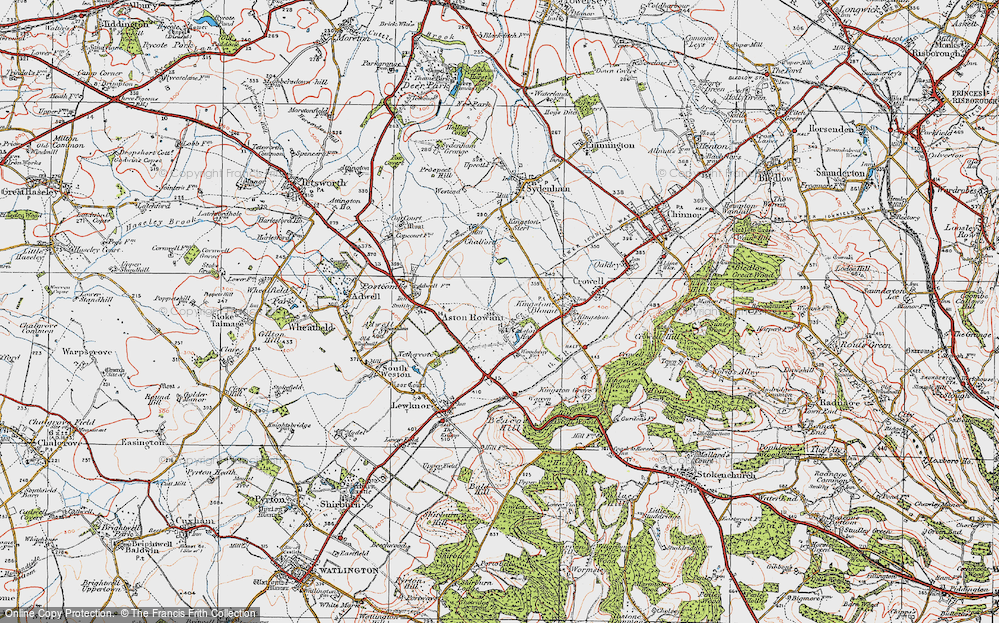 Old Map of Aston Rowant, 1919 in 1919
