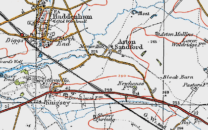 Old map of Aston Sandford in 1919