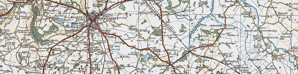 Old map of Leasowes The in 1921