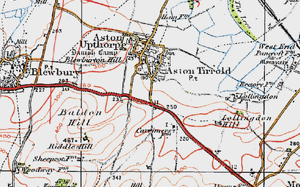 Old map of Aston Tirrold in 1919