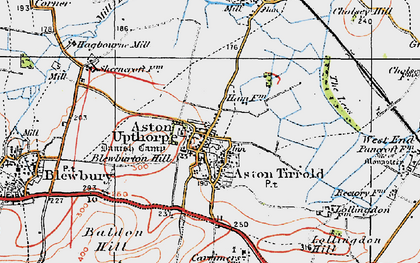 Old map of Aston Upthorpe in 1919