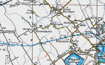 Old map of Astrope in 1919