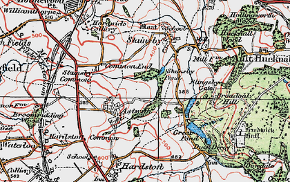 Old map of Astwith in 1923