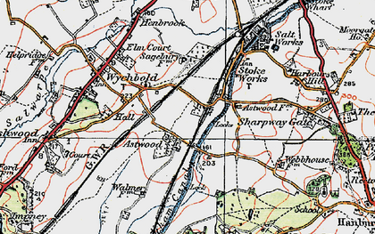 Old map of Astwood in 1919