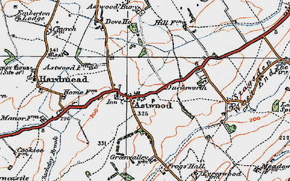 Old map of Astwood Grange in 1919
