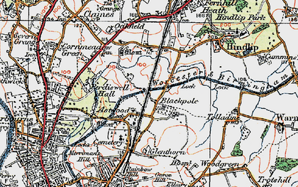 Old map of Astwood in 1920