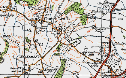 Old map of Atch Lench in 1919