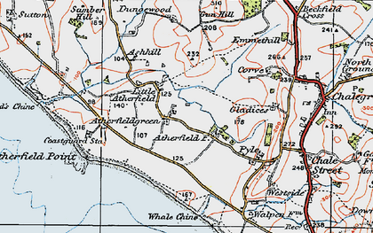 Old map of Atherfield Point in 1919