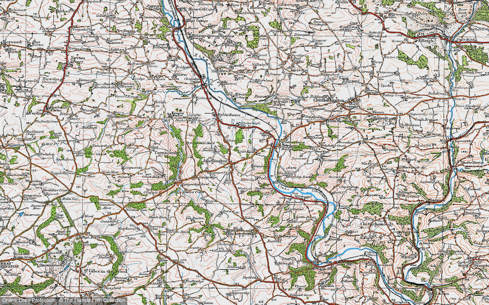 Old Map of Atherington, 1919 in 1919
