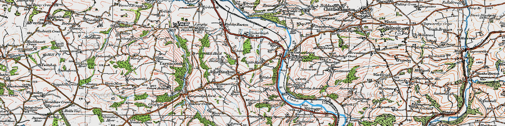 Old map of Atherington in 1919
