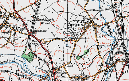 Old map of Athersley North in 1924