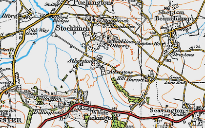 Old map of Atherstone Hill in 1919