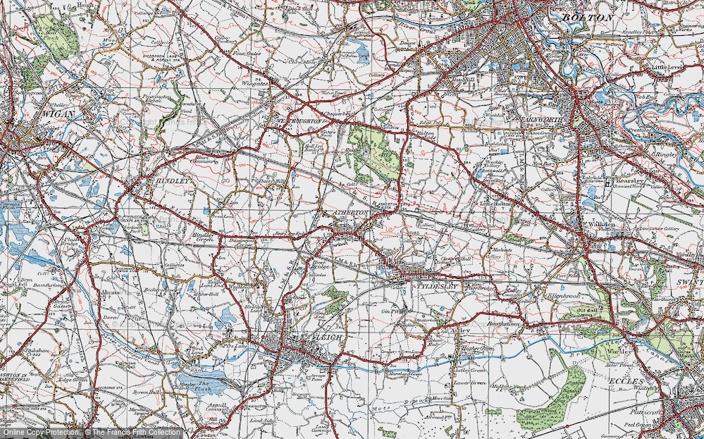Old Map of Atherton, 1924 in 1924
