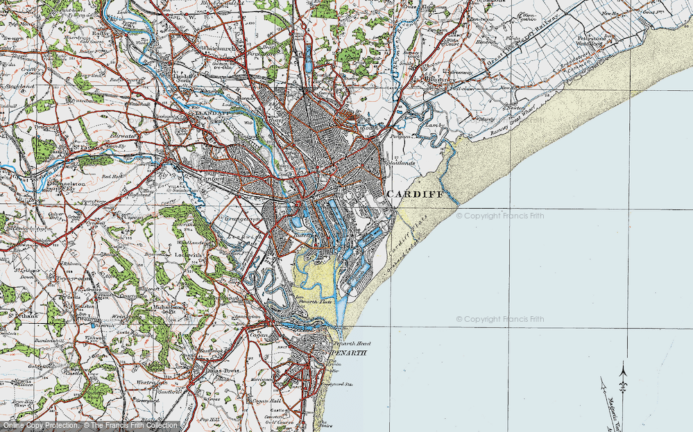 Old Map of Atlantic Wharf, 1919 in 1919