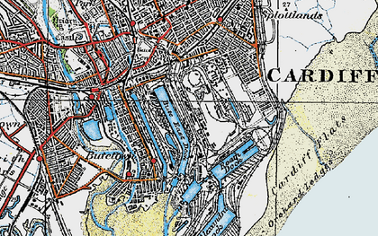 Old map of Atlantic Wharf in 1919