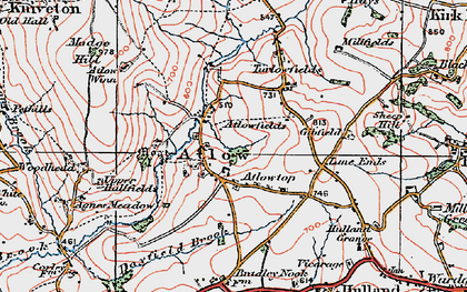 Old map of Atlow in 1921