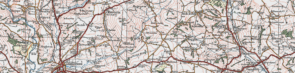 Old map of Woodhead in 1921