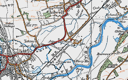 Old map of Attenborough in 1921