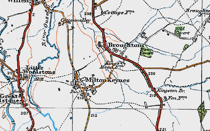Old map of Atterbury in 1919