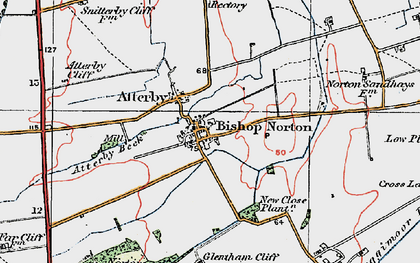 Old map of Atterby in 1923