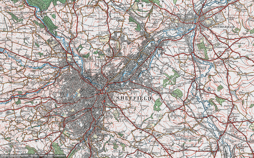 Old Map of Attercliffe, 1923 in 1923