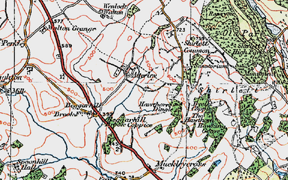Old map of Atterley in 1921