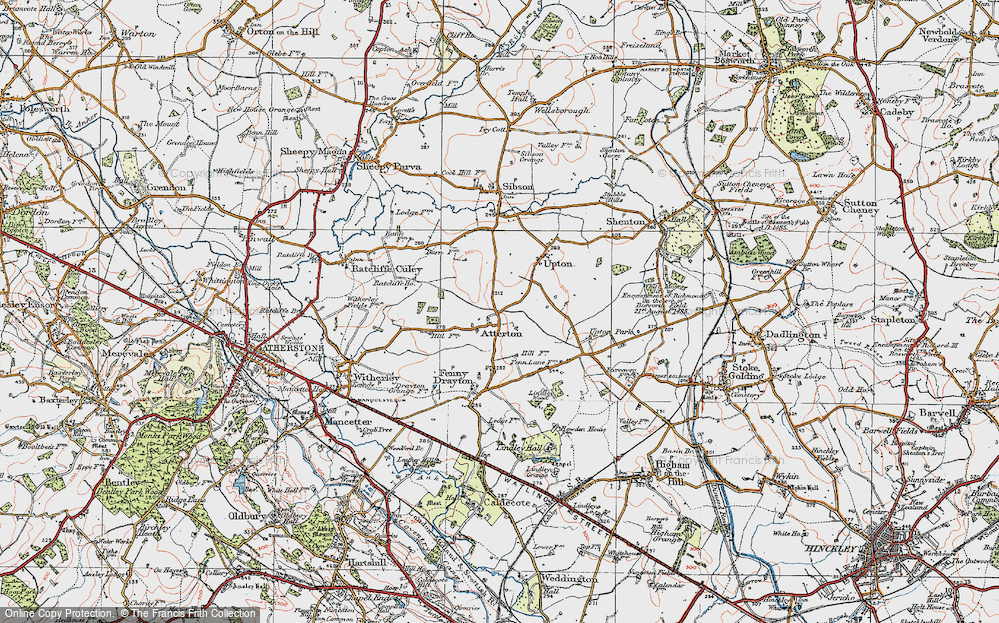 Old Map of Atterton, 1921 in 1921